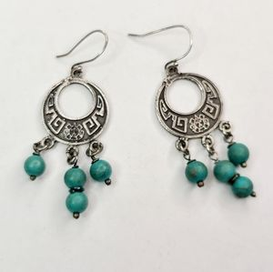Small Sterling Silver Turquoise Earring